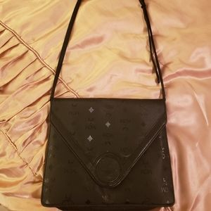 Large MCM clutch with adjustable strap